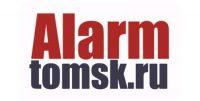 Alarm.tomsk.ru логотип автосервиса по установке сигнализаций